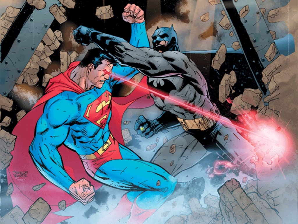batman superman fight