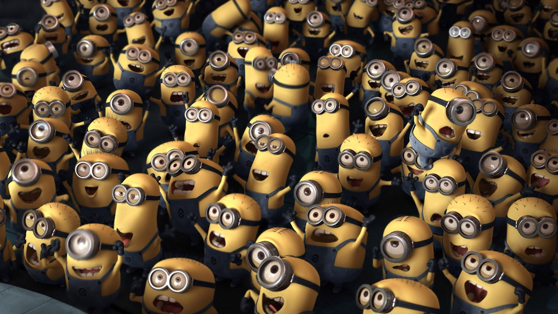 The Minions seem pleased at the good news.